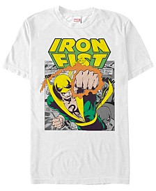 Marvel Men's Comic Collection Iron Fist Punch Short Sleeve T-Shirt