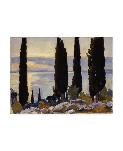 "Trademark Global John Singer Sargent Cypress Trees at San Vigilio Canvas Art - 19.5"" x 26"""
