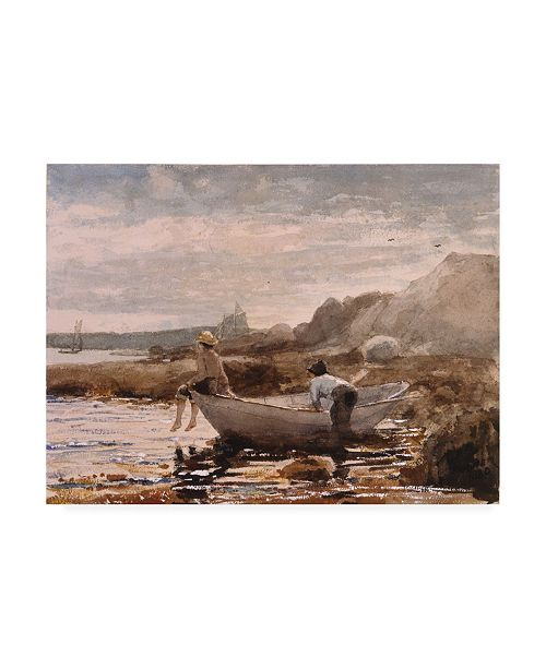 "Trademark Global Winslow Homer Boys in a Dory Canvas Art - 19.5"" x 26"""