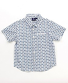 Little Boy Printed Button Down Shirt