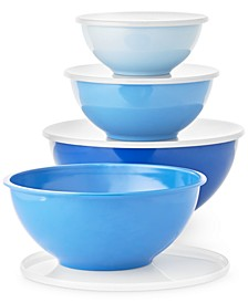 8-Pc. Blue Melamine Food Storage Bowl Set, Created for Macy's