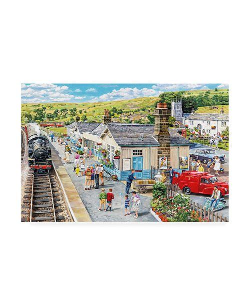 """Trademark Global Trevor Mitchell The Village Station Canvas Art - 27"""" x 33.5"""""""