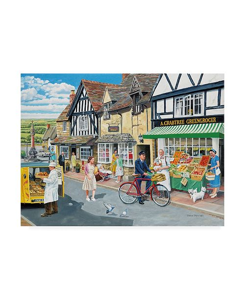 """Trademark Global Trevor Mitchell Letters For the Greengrocer Canvas Art - 36.5"""" x 48"""""""