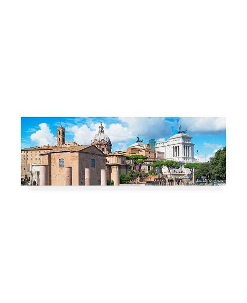 "Trademark Global Philippe Hugonnard Dolce Vita Rome 2 Sunday in Rome Canvas Art - 15.5"" x 21"""
