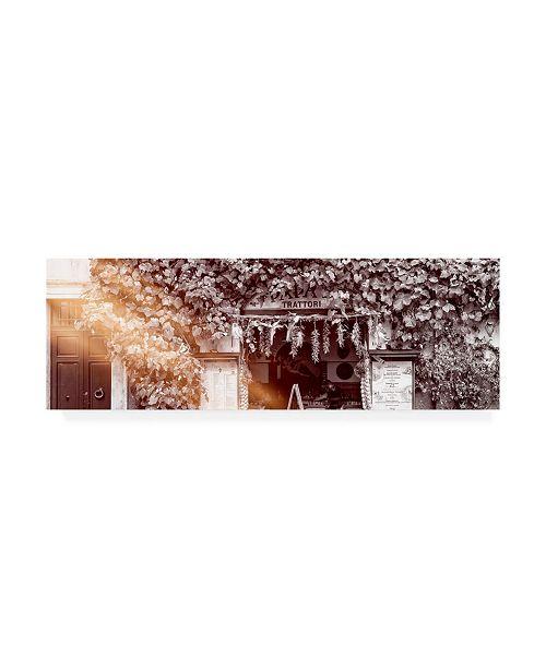 "Trademark Global Philippe Hugonnard Dolce Vita Rome 2 Trattoria IV Canvas Art - 36.5"" x 48"""