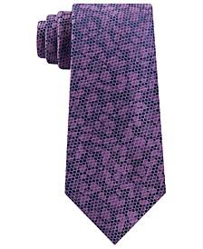 Men's Classic Floral Mesh Silk Tie