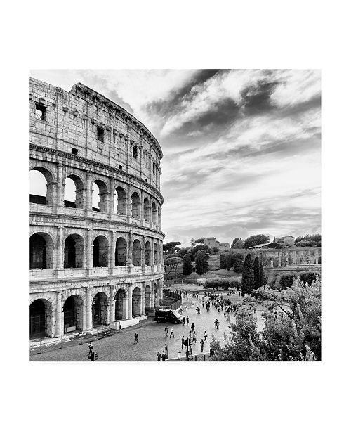 "Trademark Global Philippe Hugonnard Dolce Vita Rome 3 Colosseum VI Canvas Art - 15.5"" x 21"""