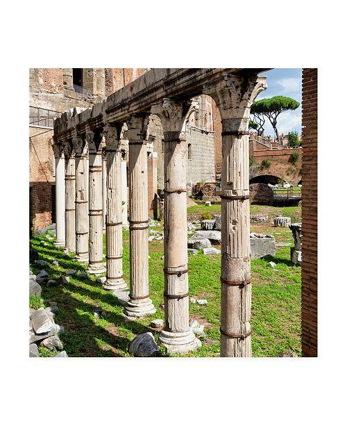 "Trademark Global Philippe Hugonnard Dolce Vita Rome 3 Architecture Columns Canvas Art - 19.5"" x 26"""