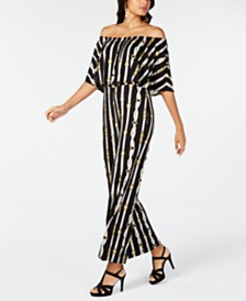 Thalia Sodi Printed Triple Threat Jumpsuit, Created for Macy's