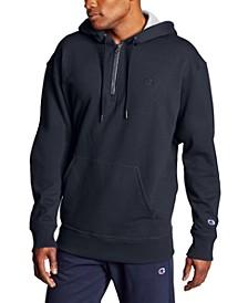Men's Powerblend Fleece Quarter-Zip Hoodie