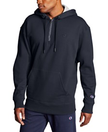 Champion Men's Powerblend Fleece Quarter-Zip Hoodie