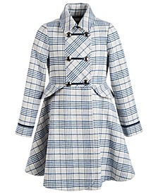Big Girls Plaid Coat
