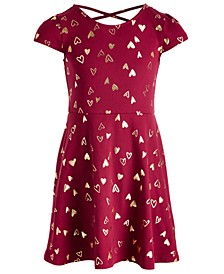 Toddler Girls Metallic Heart Dress, Created for Macy's