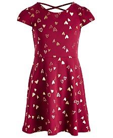 Epic Threads Toddler Girls Metallic Heart Dress, Created for Macy's