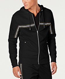 INC Men's Chest Stripe Zip-Front Hoodie, Created for Macy's