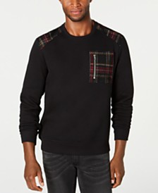 I.N.C. Men's Mesh Trim Sweater, Created for Macy's