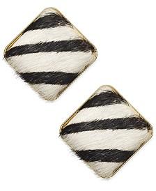 I.N.C. Gold-Tone Geometric Animal-Print Stud Earrings, Created for Macy's
