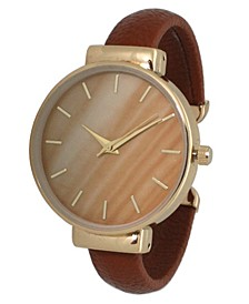 Women's Gradiant Design Leather Cuff Watch 38mm