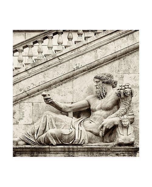 "Trademark Global Philippe Hugonnard Dolce Vita Rome 3 Roman Statue III Canvas Art - 15.5"" x 21"""