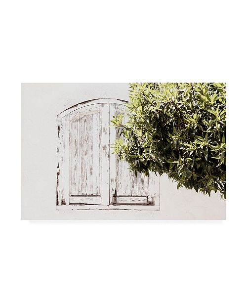 "Trademark Global Philippe Hugonnard Made in Spain White Window II Canvas Art - 36.5"" x 48"""