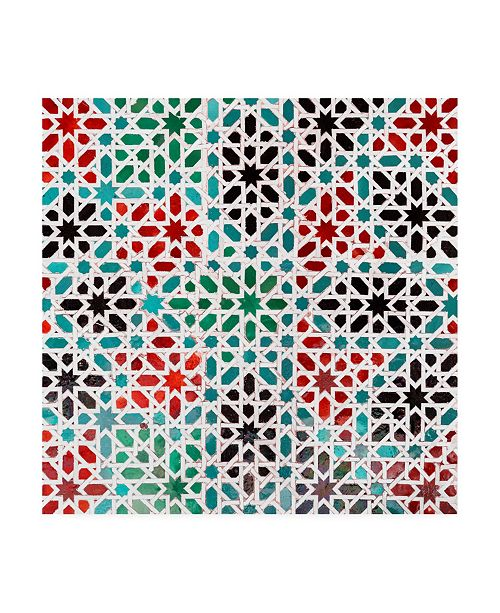"Trademark Global Philippe Hugonnard Made in Spain 3 Oriental Mosaic III Canvas Art - 19.5"" x 26"""