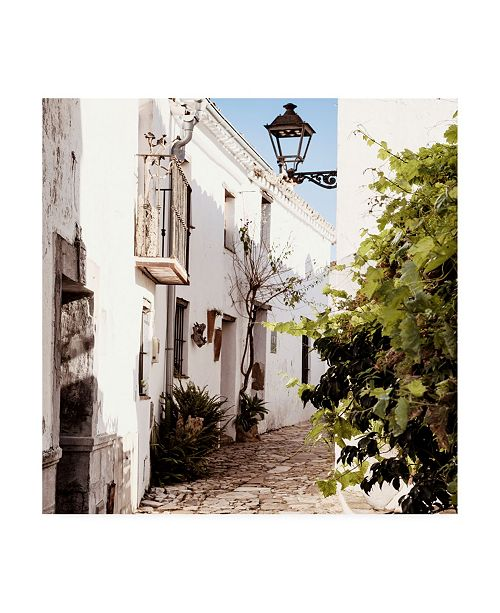 "Trademark Global Philippe Hugonnard Made in Spain 3 White Village of Castillo de Castellar II Canvas Art - 15.5"" x 21"""