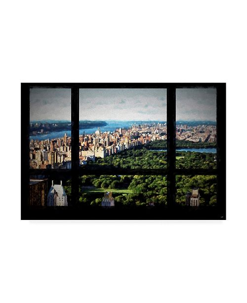 "Trademark Global Philippe Hugonnard Central Park View from the Window Canvas Art - 19.5"" x 26"""