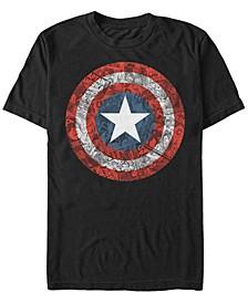 Men's Comic Collection Captain America Comic Style Shield Short Sleeve T-Shirt