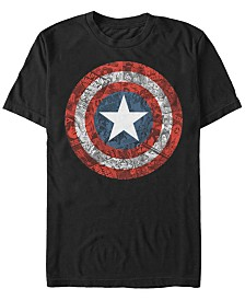 Marvel Men's Comic Collection Captain America Comic Style Shield Short Sleeve T-Shirt