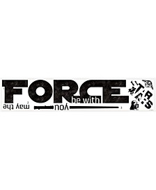 Star Wars Classic May The Force Pands Wall Decals
