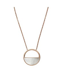 Women's Elin Stainless Steel Mother of Pearl Short Pendant Necklace
