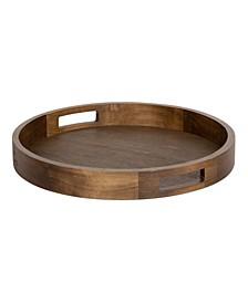"Hutton Round Wood Tray - 18.25"" x 18.25"""