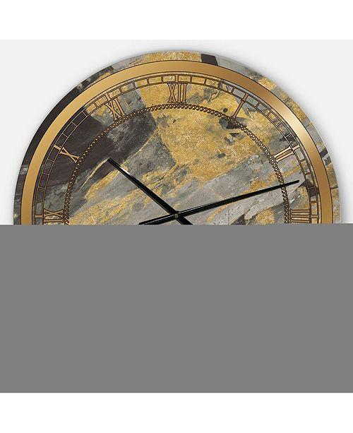 Designart Glam Oversized Metal Wall Clock