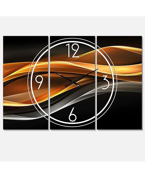 Designart Modern and Contemporary 3 Panels Metal Wall Clock