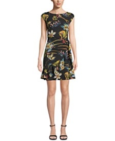ECI Floral Wrap Mini Dress
