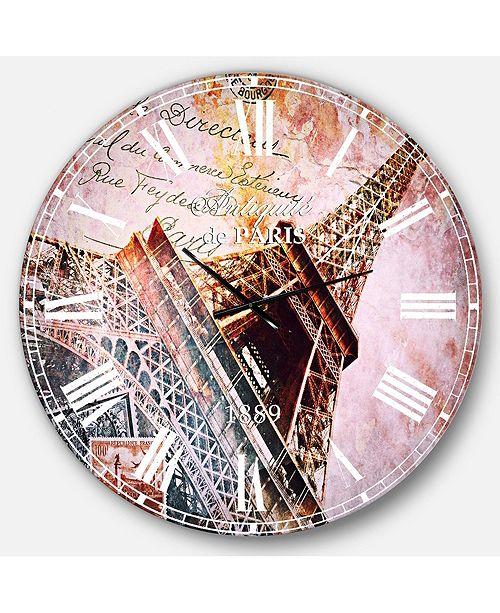 Designart Contemporary Oversized Round Metal Wall Clock