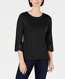 Cotton Lace-Trim Top, Created for Macy's