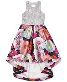 Big Girls Lace Floral-Print Dress
