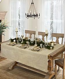 "La Classica Luxury Metallic Linen Fabric Tablecloth, 70""x146"""