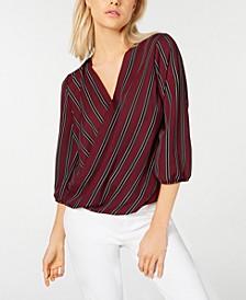 Printed Blouson-Sleeve Top