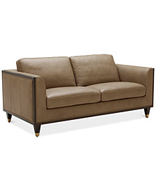 """CLOSEOUT! Reavere 73"""" Leather Loveseat"""