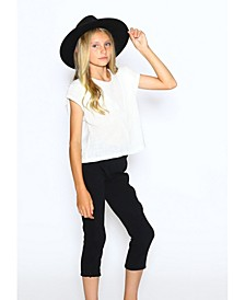 Big Girls Normal Fit Pant with Scallop Side Detail