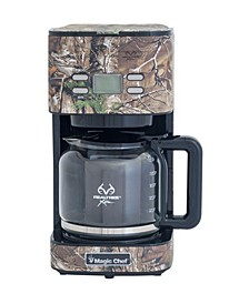 12-Cup Drip Coffee Maker with Authentic Real Tree Extra Camouflage Pattern