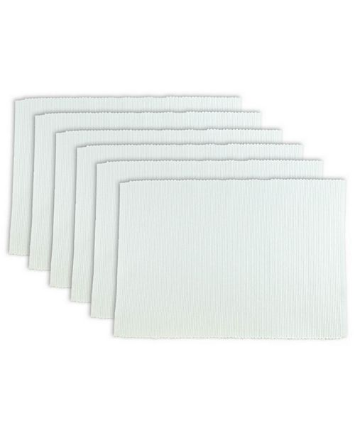 Design Import Ribbed Placemat, Set of 6