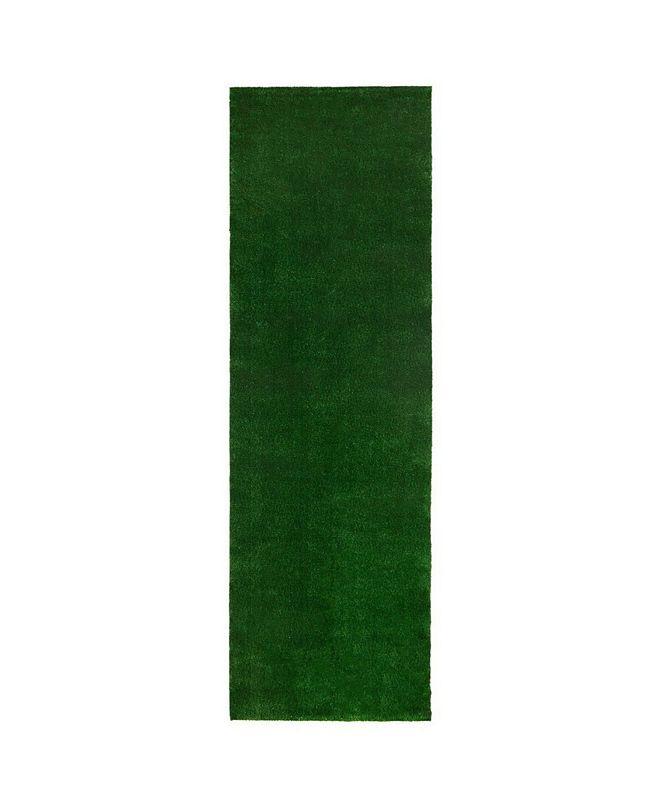 "Ottomanson Evergreen Collection Indoor/Outdoor Artificial Grass, 31"" x 118"""