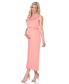 White Mark Maternity Kadyn Maxi Dress