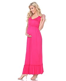 White Mark Maternity Harley Maxi Dress