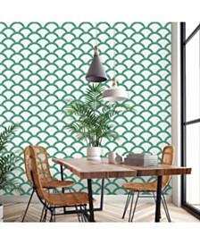 Tempaper Mosaic Scallop Self-Adhesive Wallpaper