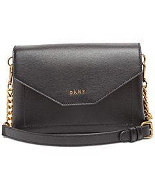 Alex Leather Flap Crossbody, Created for Macy's