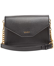 DKNY Alex Leather Flap Crossbody, Created for Macy's